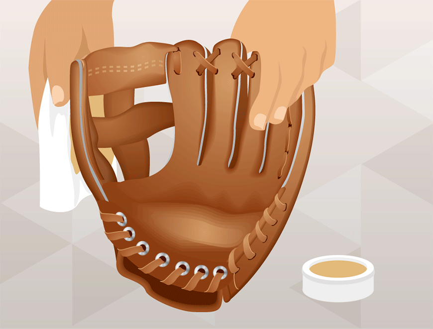 how to clean a baseball glove using leather cleaner