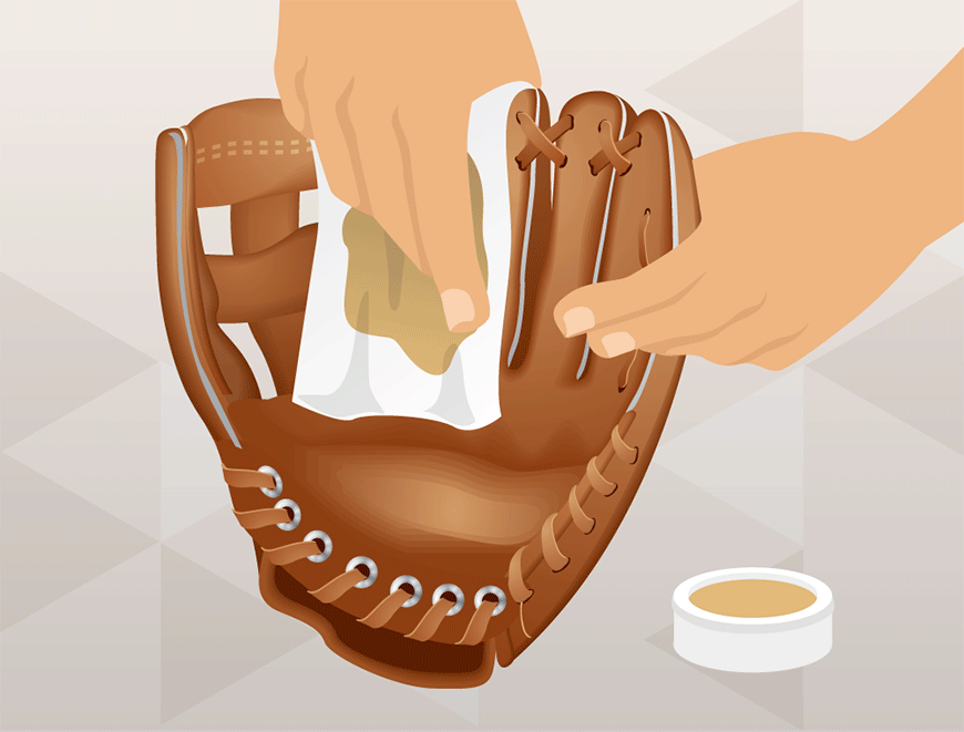 how to condition a baseball glove
